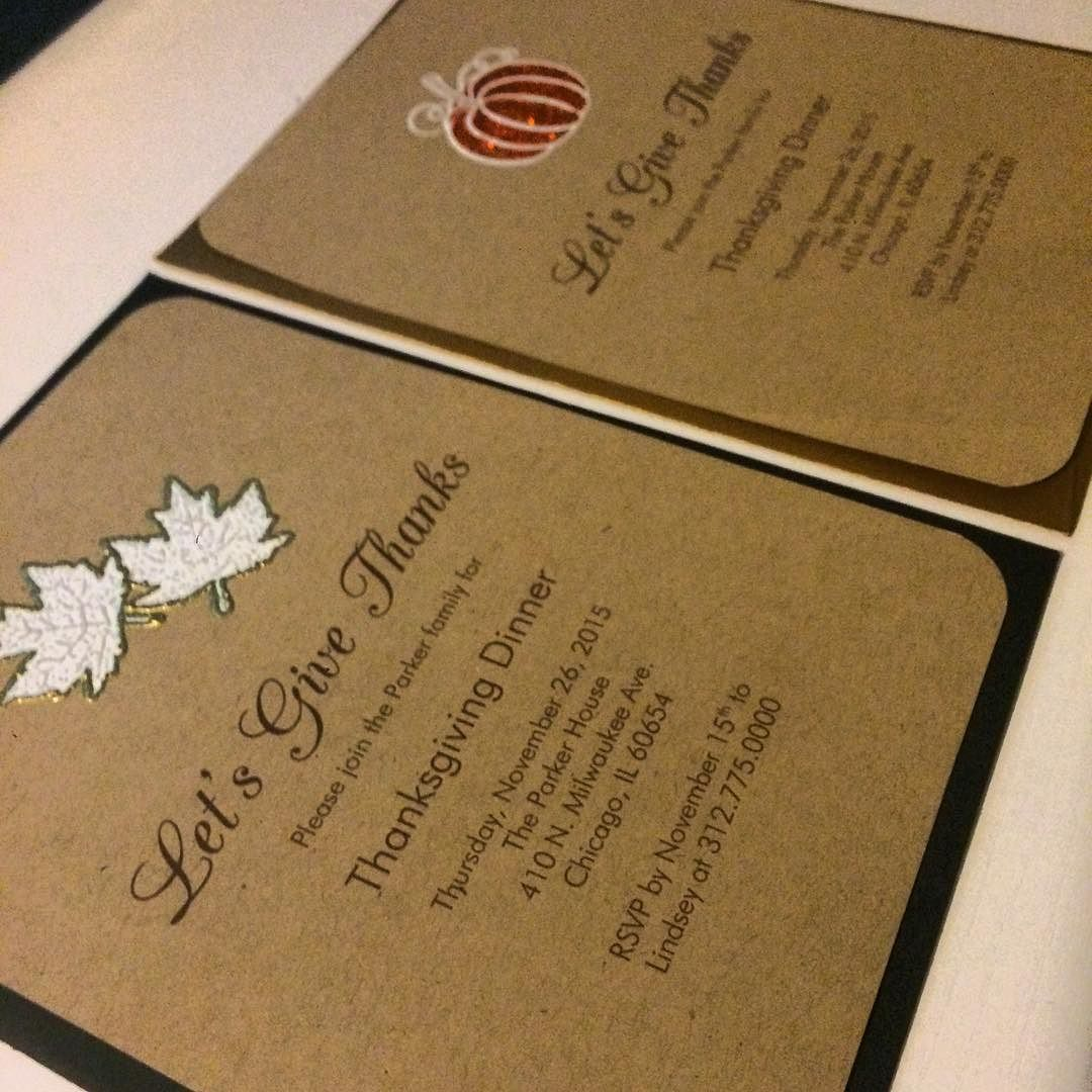 """In all things give thanks"" Thanksgiving Invites #invitations  #stationery #handmade #handcrafted #papergoods #graphicdesigner #graphics #designer #yourexperiencematters #jodesigns__"