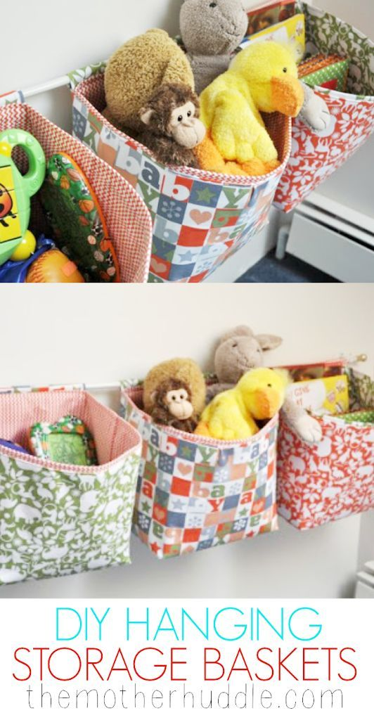 Hanging Storage Baskets Tutorial Fabric Storage Baskets Hanging