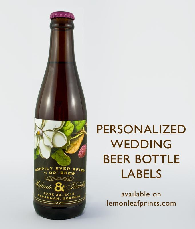 Hoppily Ever After I Do Brew Personalized Wedding Beer Bottle Labels Makes A Great Favour For Home Brewers