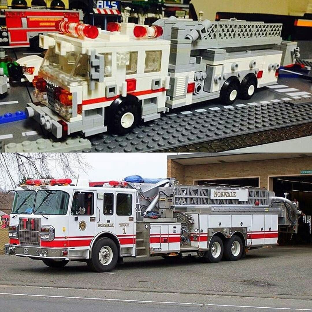 This is the lego replica of Norwalk Fire Department Norwalk CT 2005 Sparten Cab…