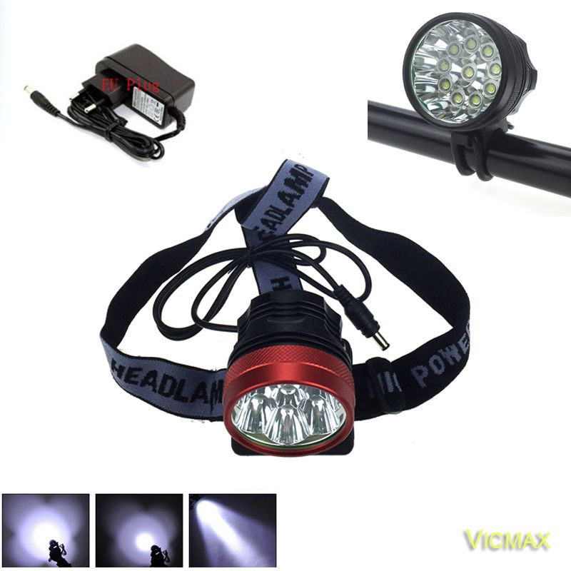 Vicmax 2in 1 Waterproof 20000 Lumen 10t6 Bike Lights 10xxm L T6 Led Bicycle Lamp Helmet Luces Led Bicicleta 8 4v Bat Portable Light Bike Lights Bicycle Lights
