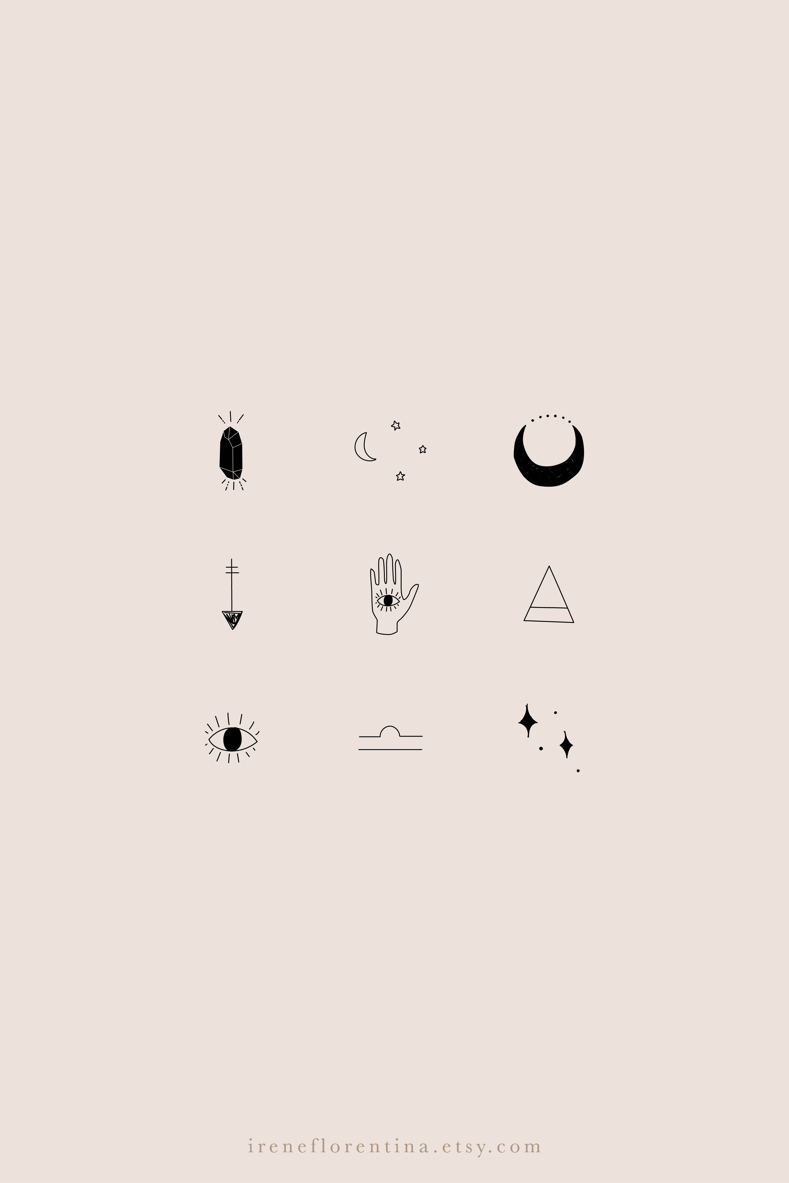 Black & Gray Instagram Story Highlight Icons Covers Magical for Social Media Kit Templates Lifestyle Magic Witchcraft Alternative
