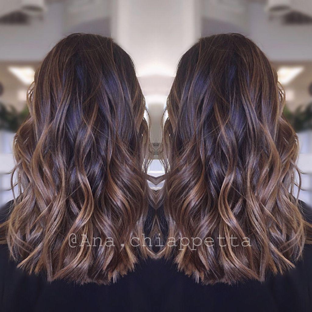 cristophe salon newport beach ca. dark brunette balayage caramel
