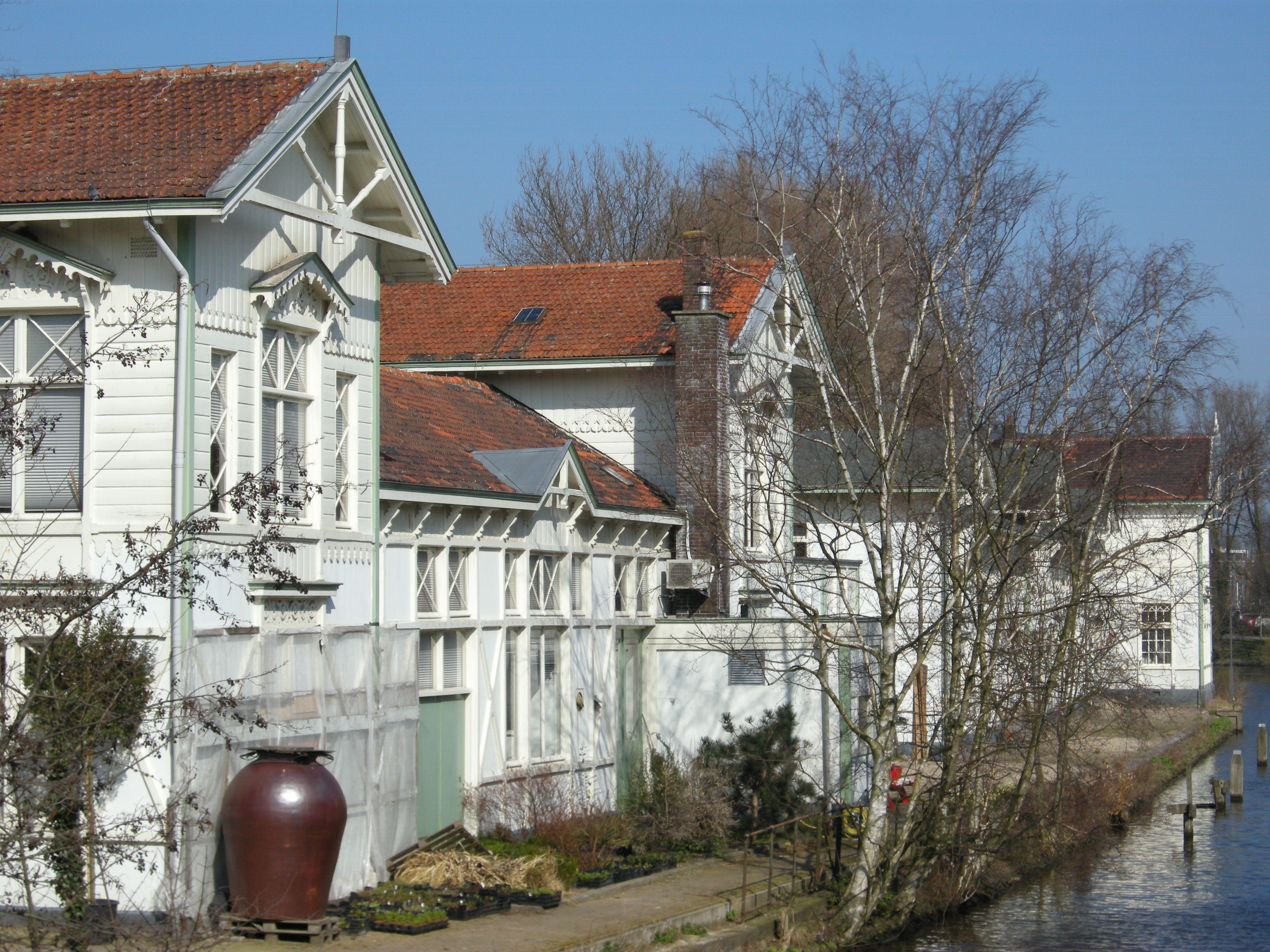 beautiful old white houses,  Artis (zoo), Plantage Middenlaan, Amsterdam