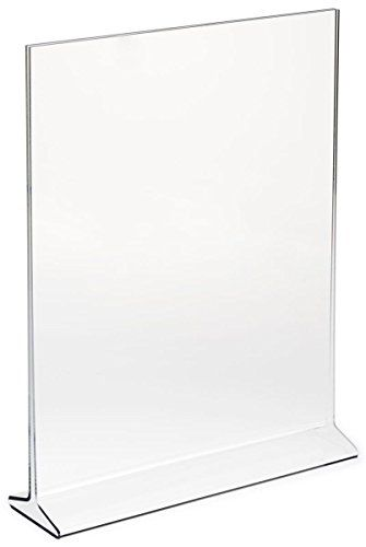 6 Pack 5 X7 Acrylic Sign Holder Plastic Portrait Frames 20 77 On Amazon Countertops Frame Display Acrylic Sign