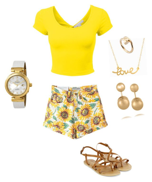 """""""Picnic"""" by fashion074 ❤ liked on Polyvore featuring Accessorize, Minnie Grace, Kenneth Jay Lane, Cartier and OMEGA"""