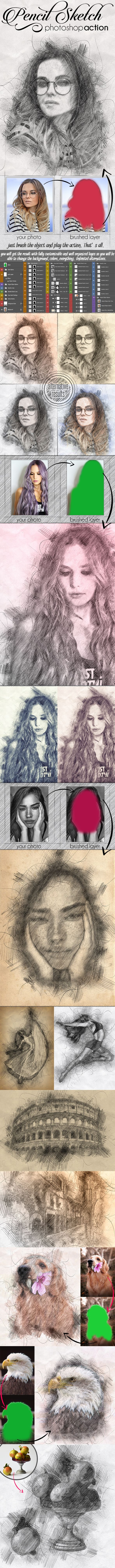 Pencil sketch effect photoshop action