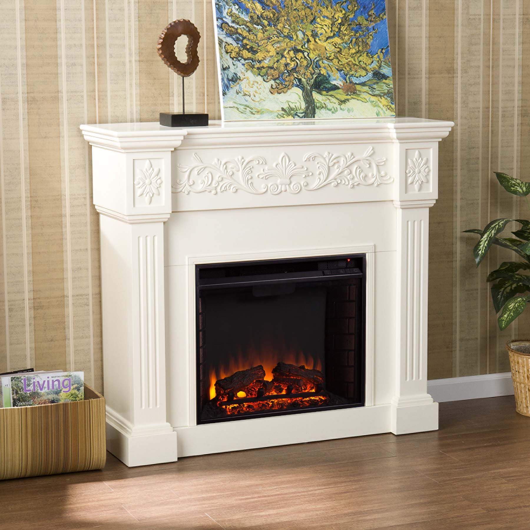 445 holly martin huntington electric fireplaceivory