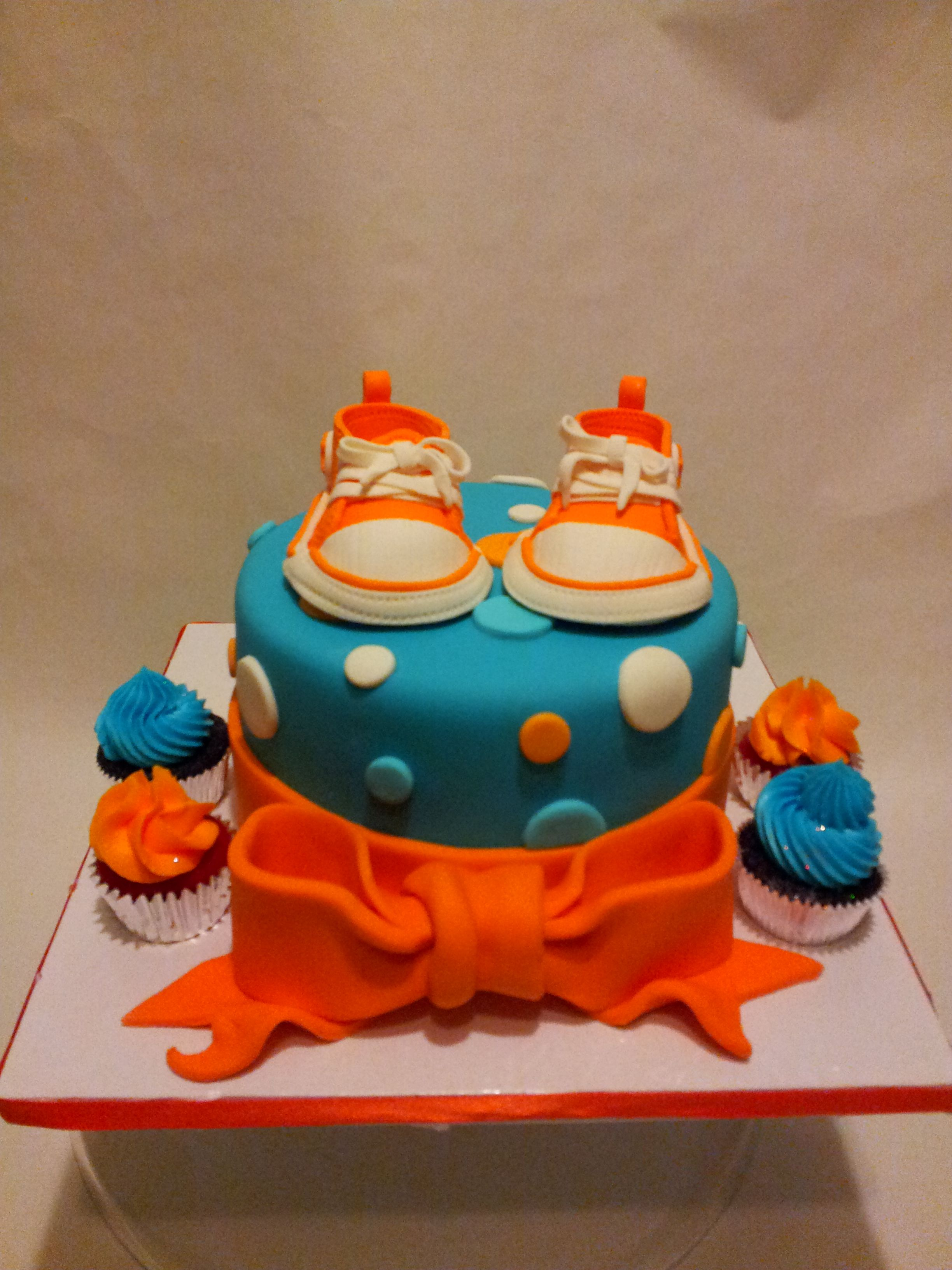 Teal and Orange Baby Shower Baby All Stars made from Gumpaste ...