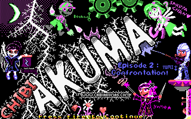 Chibi Akuma(s) Episode 2: Title Screen!  4 color screen - using raster line switching for 9 unique colors ちび悪魔タイトル画面 #chibiakumas #chibi #akuma #retrogames #retrogaming #gothic #amstradcpc #8bit #チビ悪魔 #ちび悪魔 #ゴシック STG#