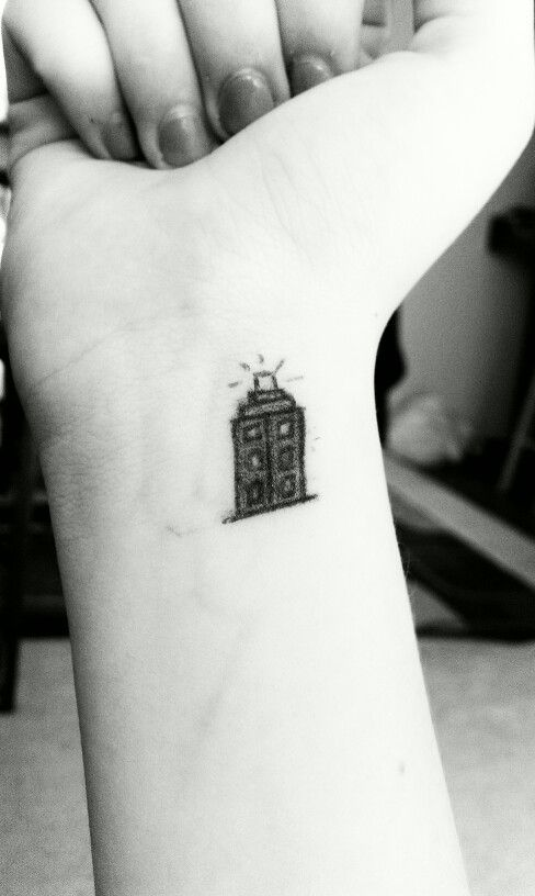 Tardis silhouette tattoo images for Independent tattoo lincoln ne