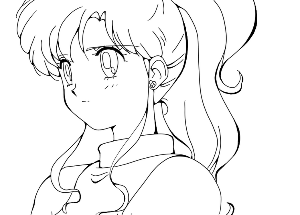 anime girls coloring pages - Anime Girl Coloring Pages Print