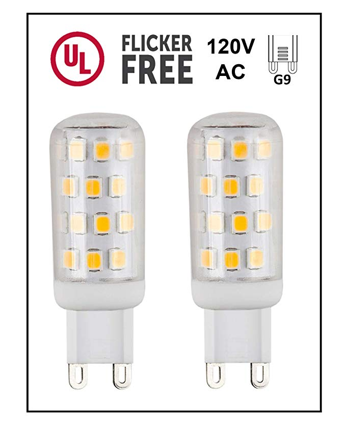 Cbconcept Ul Listed G9 Led Light Bulb 2 Pack 3 Watt 310 Lumens Not Dimmable Warm White 3000k 360 Beam Angle 120 Volt Led Light Bulb Light Bulb G9 Led