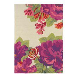 Sanderson Midsummer Rose Charcoal Rug - 786733 - Sanderson Midsummer Rose Charcoal Rug 170 x 240cm