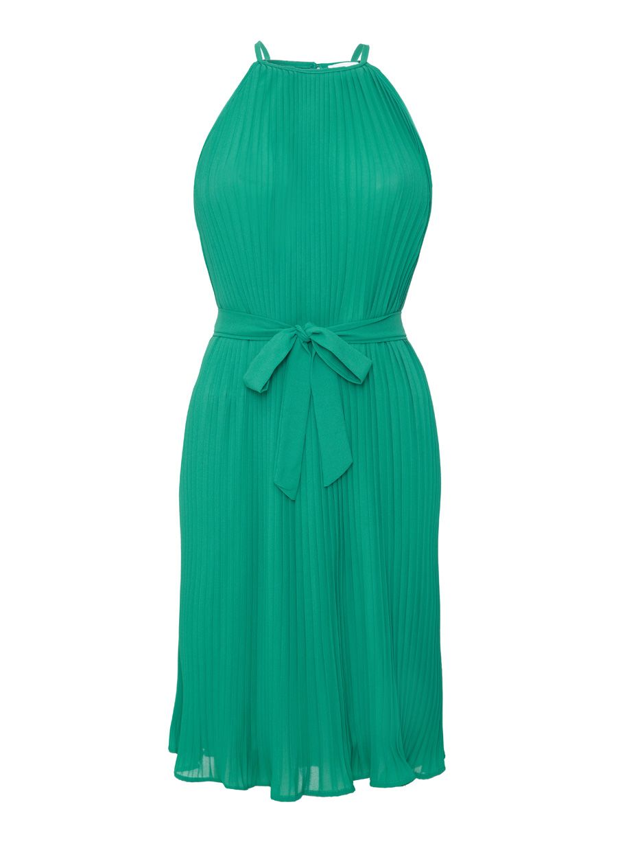 Pleated Party Dress - Green - AED990 from Hunni Online www ...