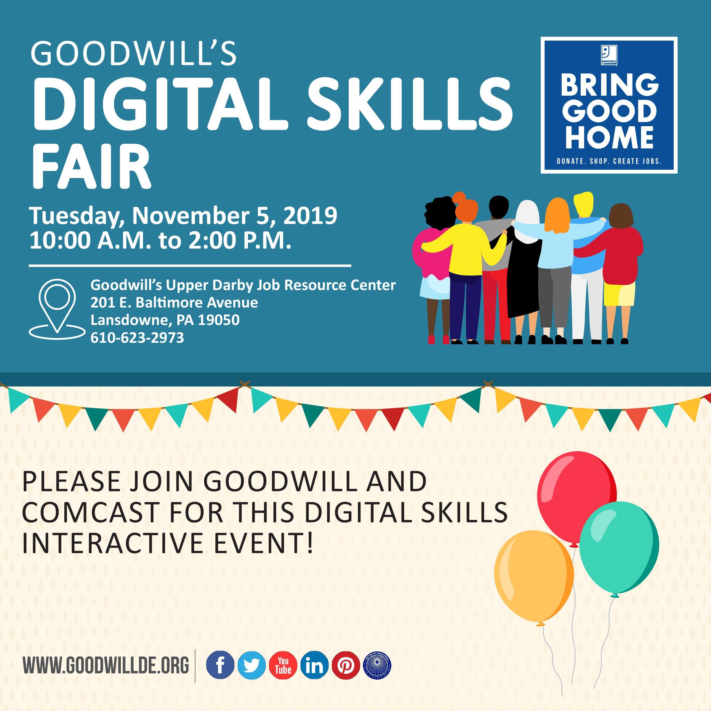 Goodwill S Digital Skills Fair Tuesday November 5 2019 10 00