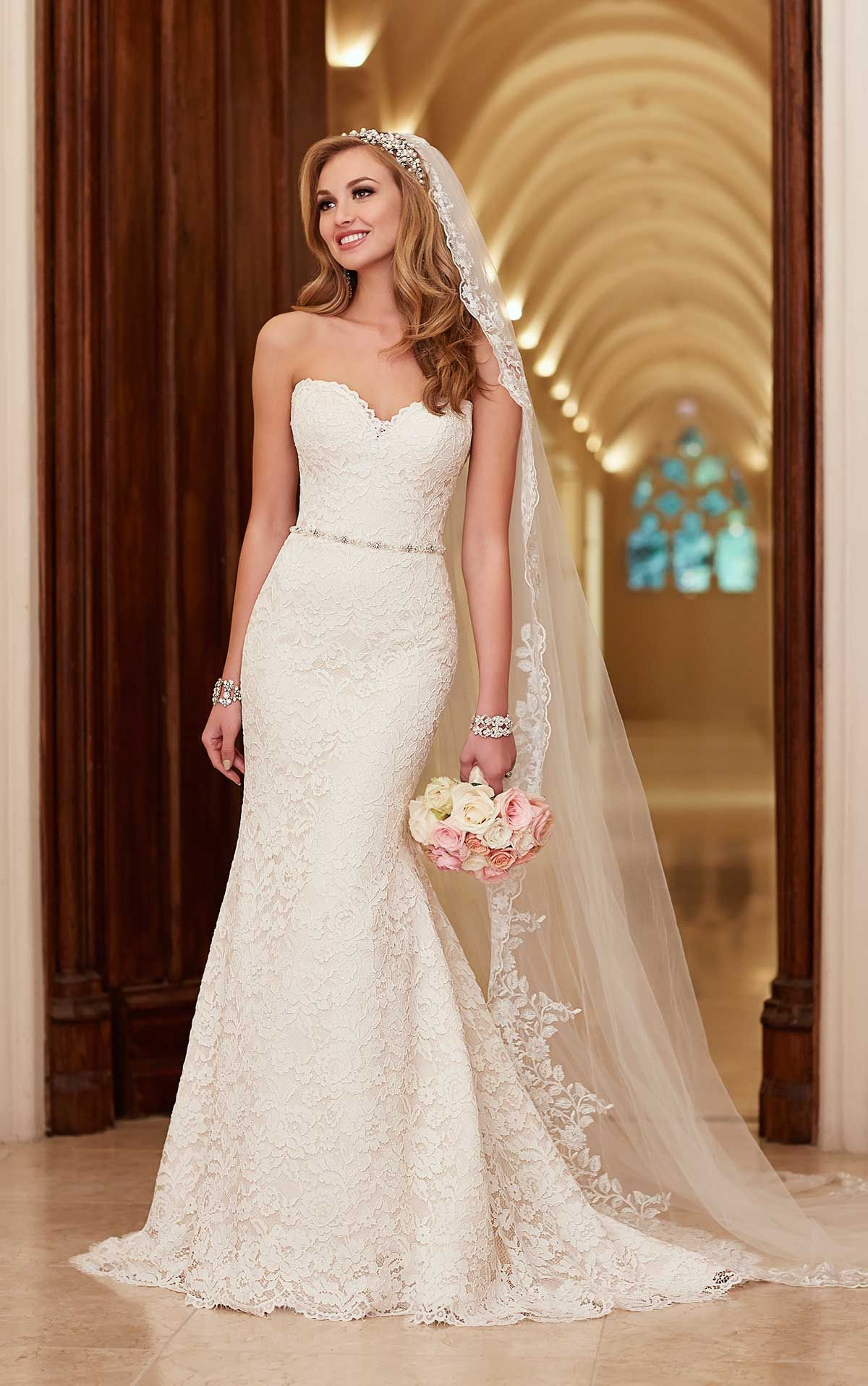 Romantic Lace Over Satin Wedding Dresses Wedding Dresses Lace