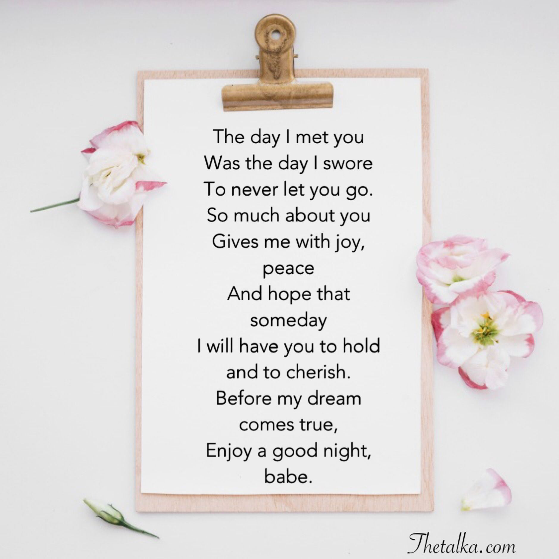 Sweet poems short goodnight 19 Good