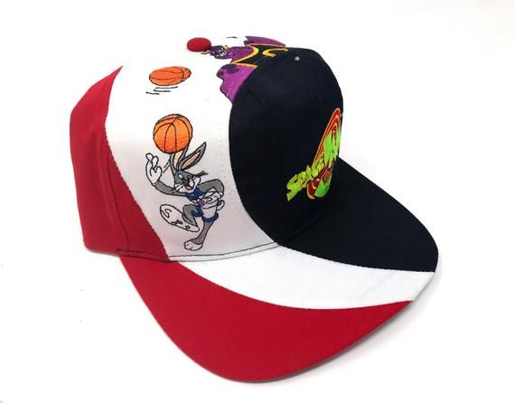 the latest 9e1d1 4a2f6 Vintage Space Jam Hat Monstars Bugs Bunny Looney Tunes Deadstock Snapback  90s