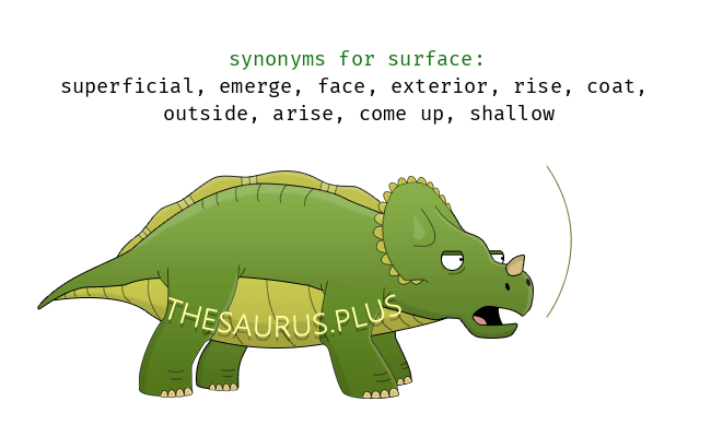 Merveilleux Surface Synonyms Https://thesaurus.plus/synonyms/surface #surface #synonym  #thesaurus #superficial #emerge #exterior #face #come_up #arise #outside  #coat # ...