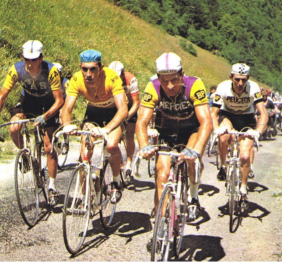 Casquette Mercier vintage de courreur cycliste Raymond Poulidor Tour de France