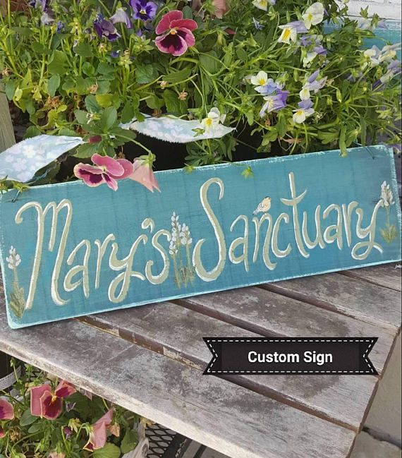 Handmade-Personalised-Garden-Allotment-Plaque-Custom-Made Sign Gift