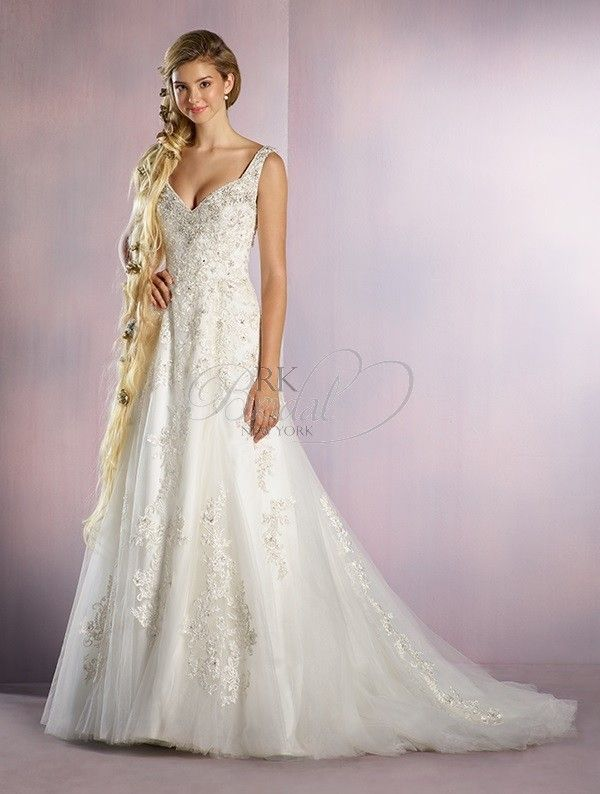 Alfred angelo disney wedding dress belle style