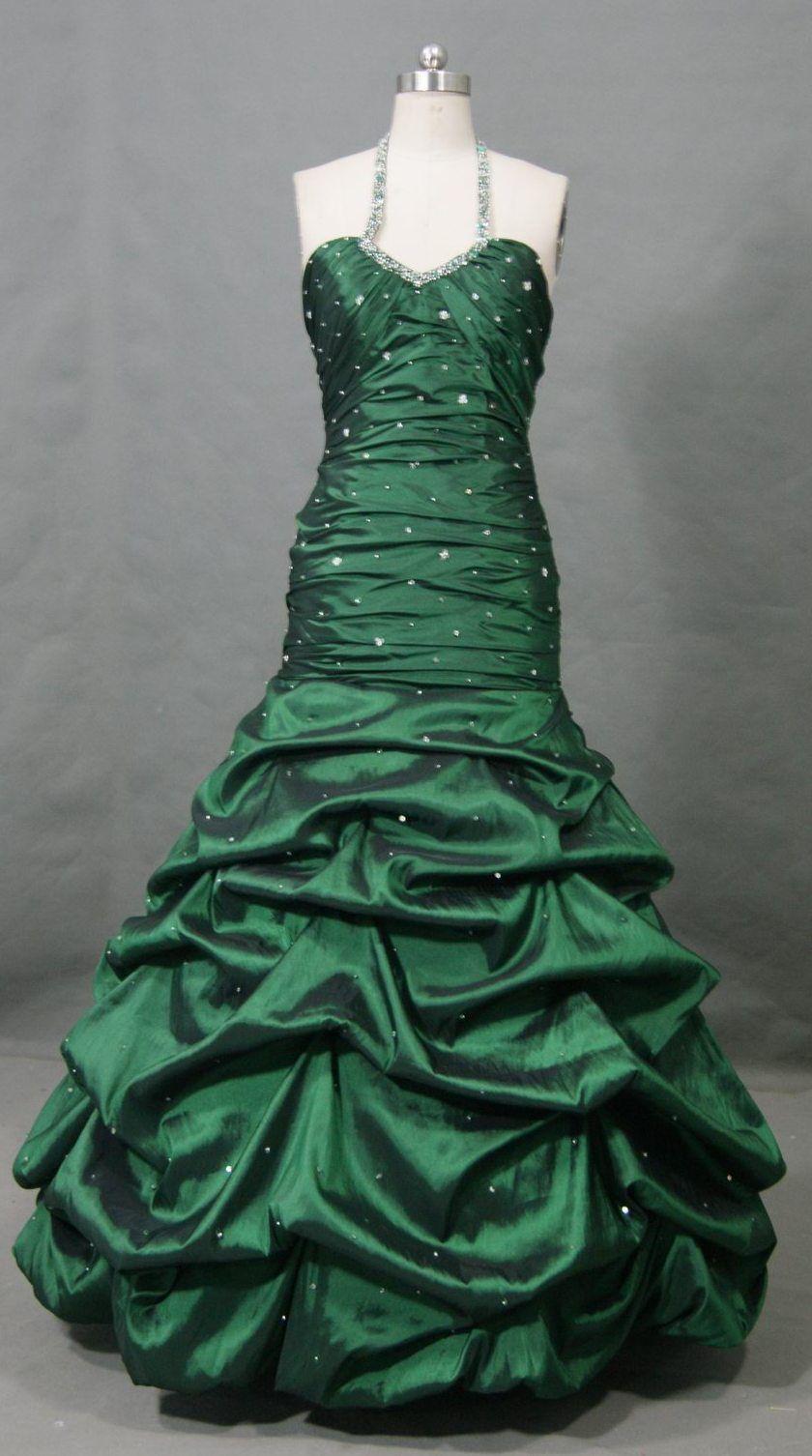 Emrald mermaid gown long dressesskirts pinterest