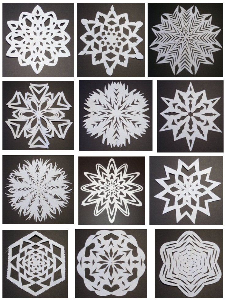 how to make a cut out snowflake templates