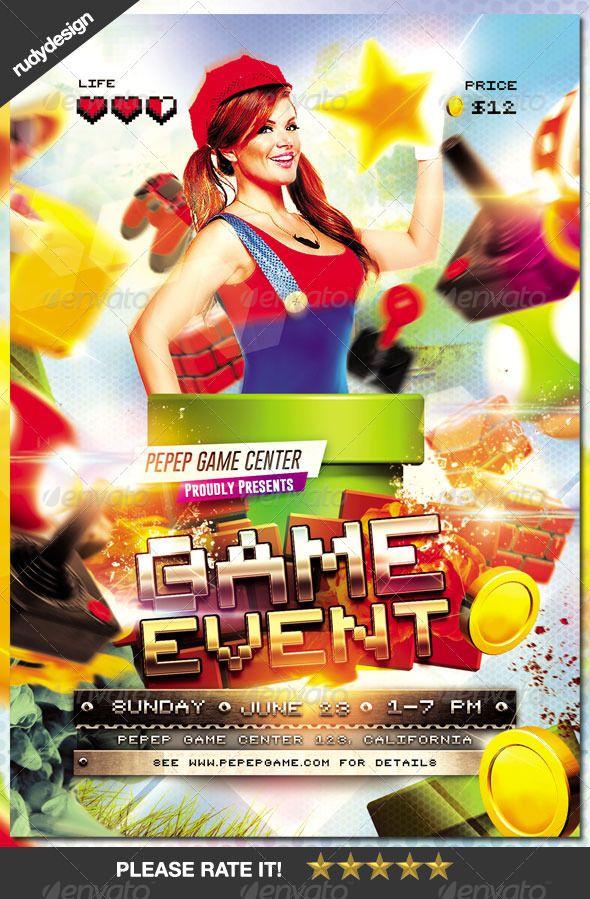 Video Games Event Flyer Design | Event flyers