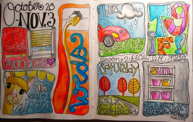 Inspiration Everywhere: AEDM Day 4 - Life Cartoon...