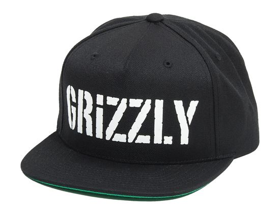 Skate brand GRIZZLY Grip gives in and puts one of their famous griptape  designs on a hat with the HD Stamp Logo snapback cap. 610f0d9bea7e