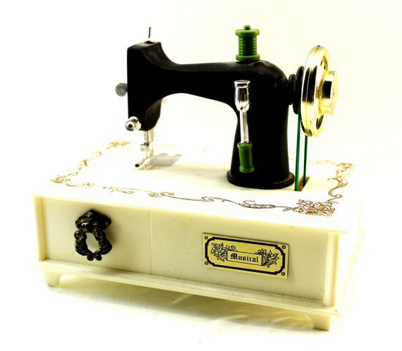 Singer Sewing Machine Style Music Box Vintage Sewing Machine Music Magnificent Singer Sewing Machine Music Box