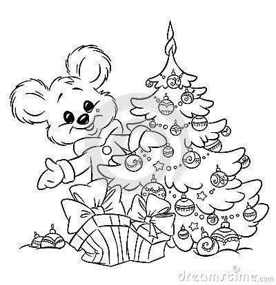 Christmas Teddy Bear Tree Ornaments Gift Colorin Christmas Tree Coloring Page Free Christmas Coloring Pages Christmas Gift Coloring Pages