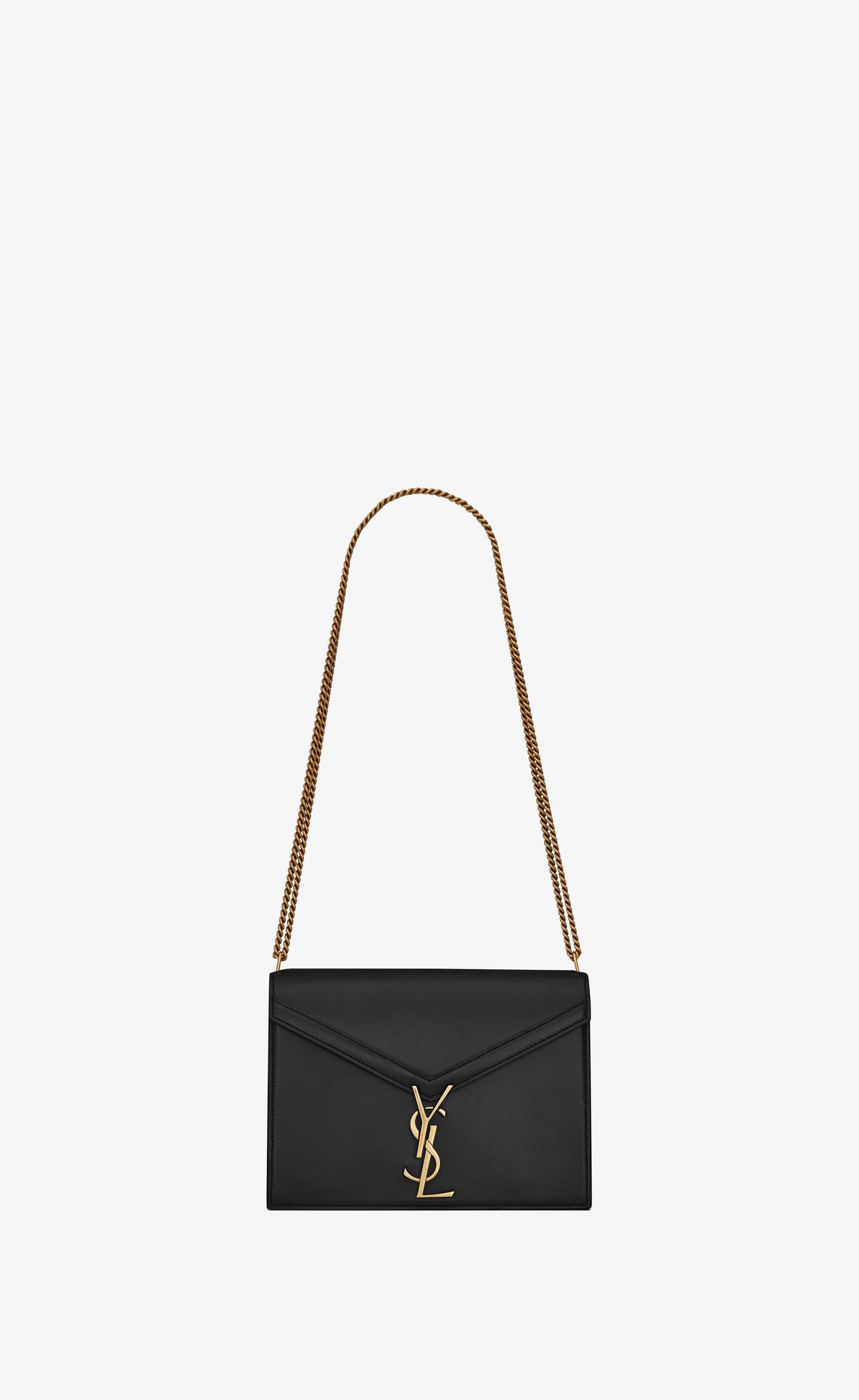 Saint Laurent Cassandra Chain Bag In Black Leather Ysl Com Bags Saint Laurent Yves Saint Laurent Bags