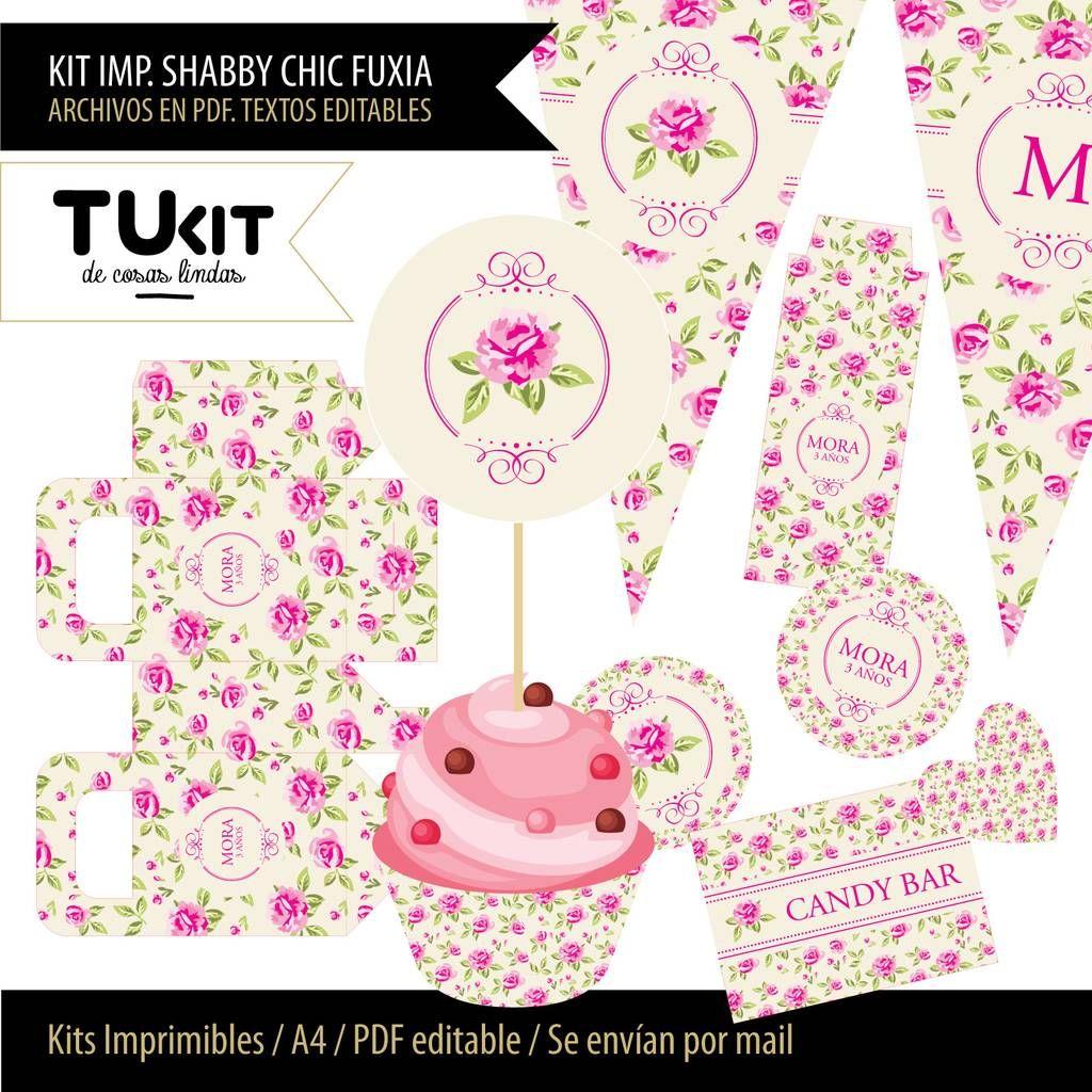 Pin de Moni Ledo en Kit Imprimible con flores | Pinterest | Kit ...