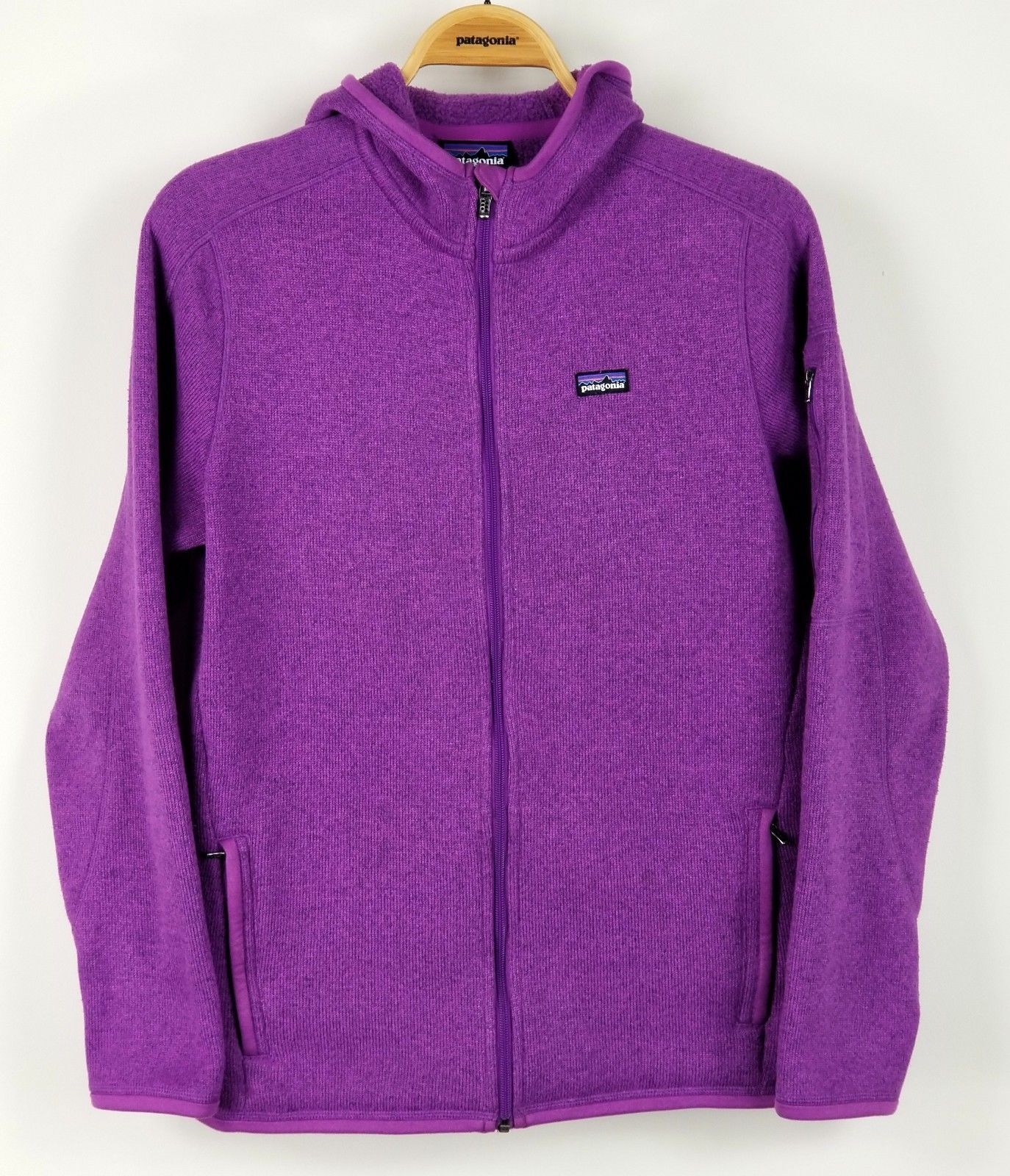 Patagonia Better Sweater Hoody Womens L Large Full Zip Fleece