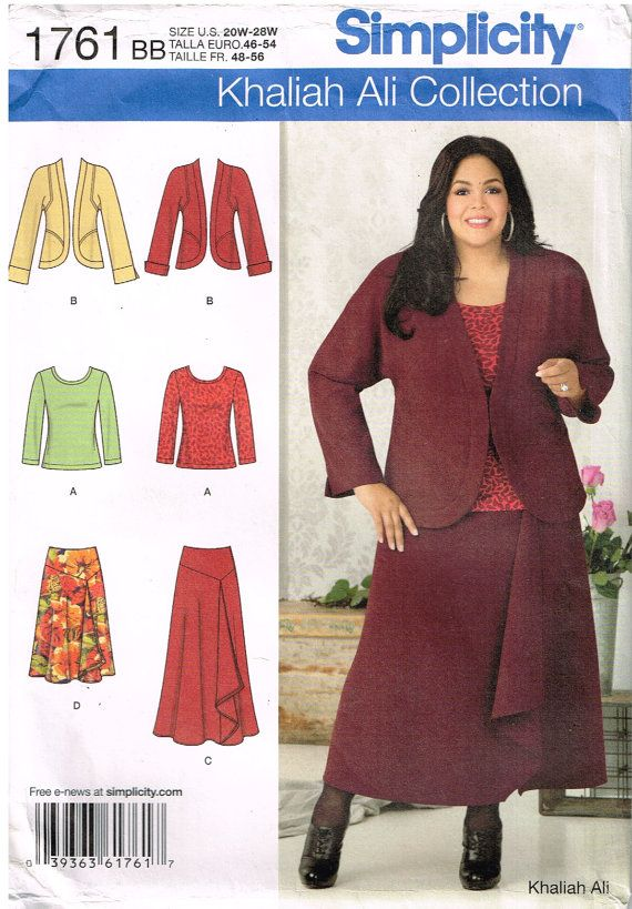 Simplicity 1761 Sewing Pattern Womens Jacket Top And Skirt