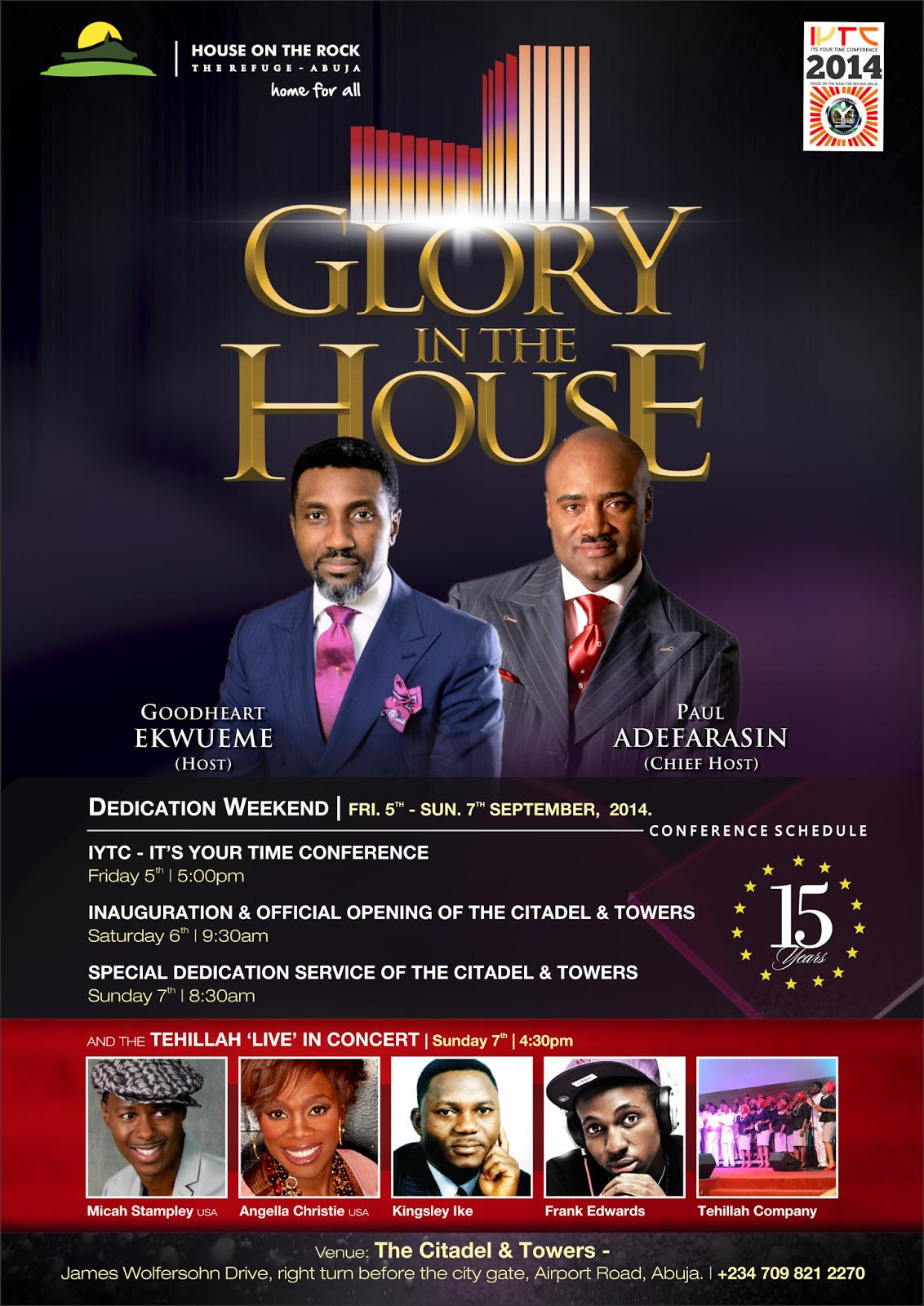 NaijaCynth's Blog: Its Your Time Conference 2014: Citadel & Towers Dedication & Tehillah Company Live Concert
