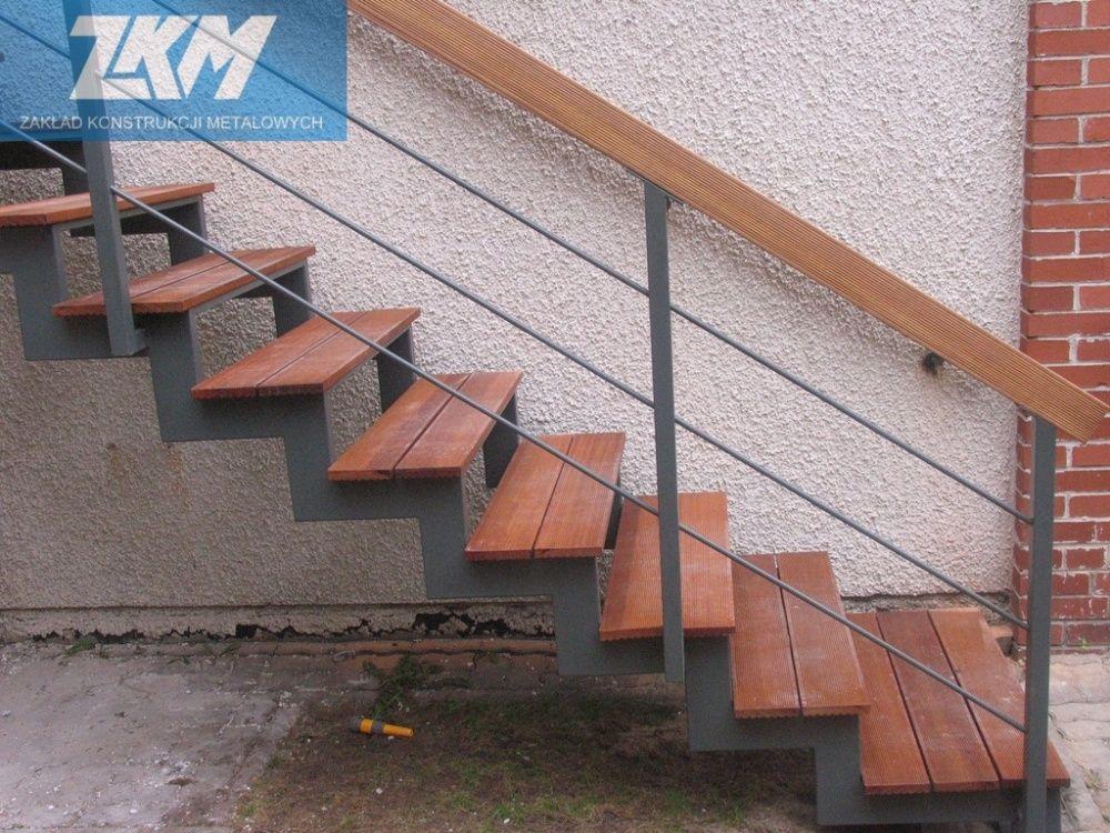 Steel external stairs