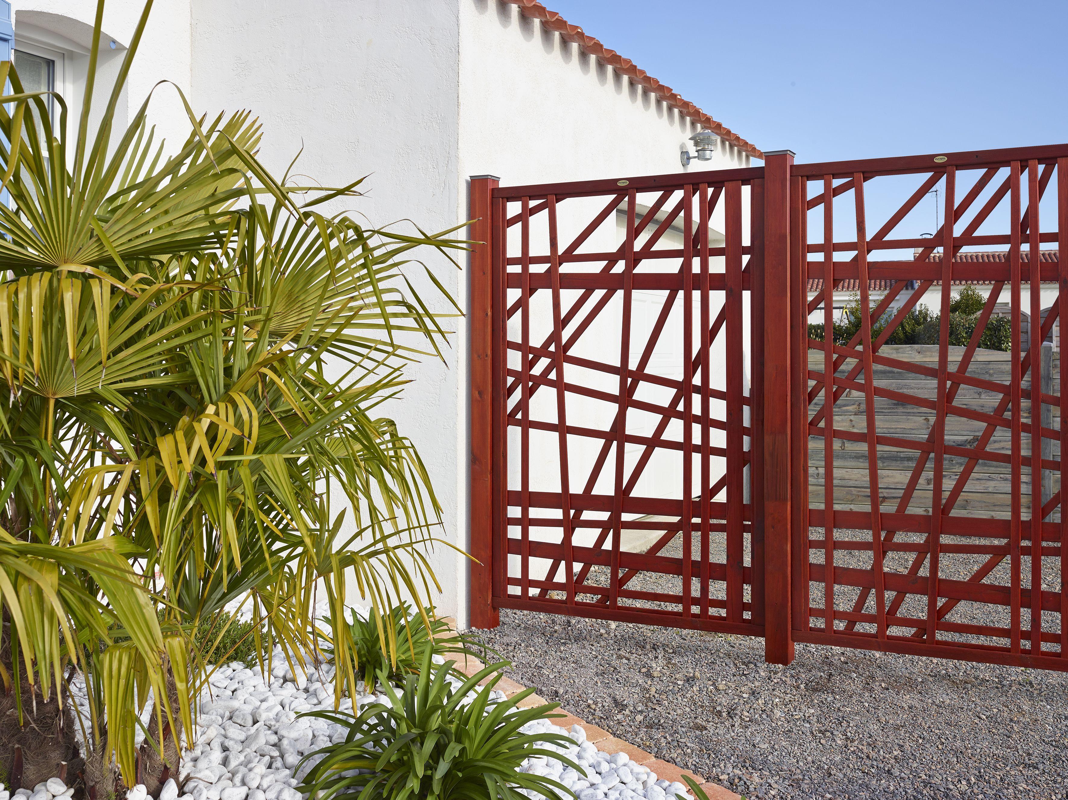 claustra r galisse en pin classe 4 lasur couleur acajou. Black Bedroom Furniture Sets. Home Design Ideas