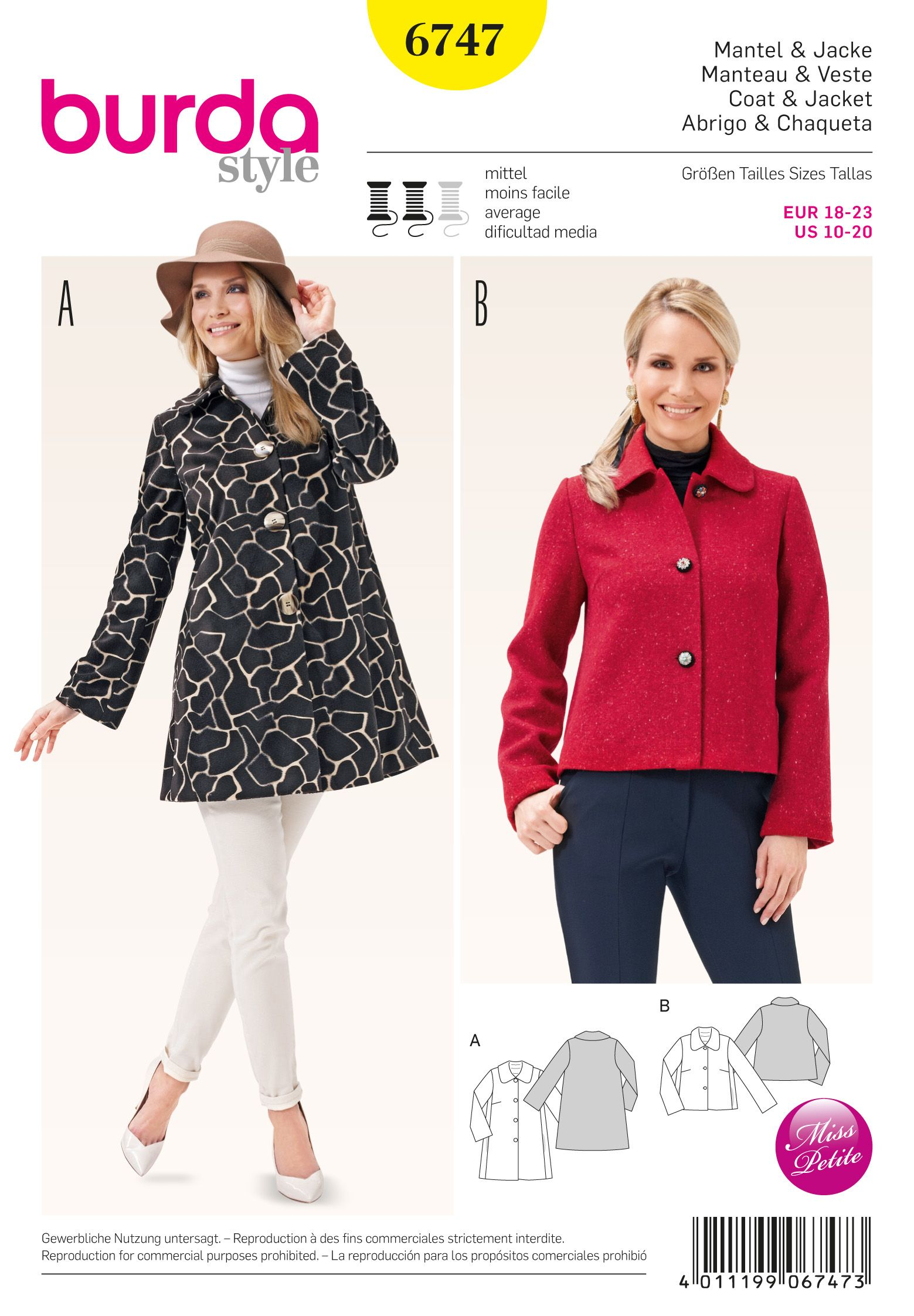 Burda 6747 Misses\' Jacket
