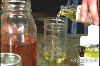 body oil-  4 oz sweet alomond oil  4-5 drops grapefruit oil  4-5 drops carrot seed oil