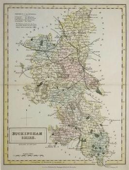 Antique Maps UK England Buckinghamshire Map By Chapman Hall - Vintage maps uk