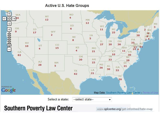 map of neo nazis in america Google Search MAPS Pinterest