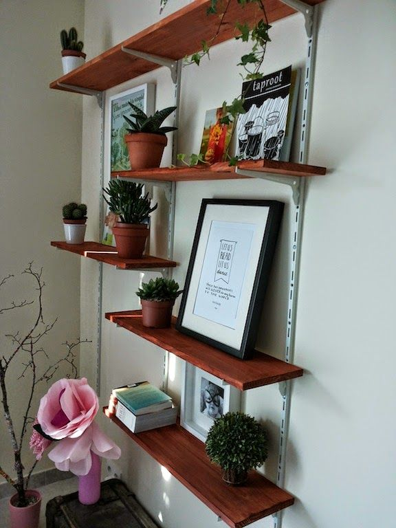 Diy etag re cr maill re idee etagere home shelves home decor et decor - Meuble cremaillere ...