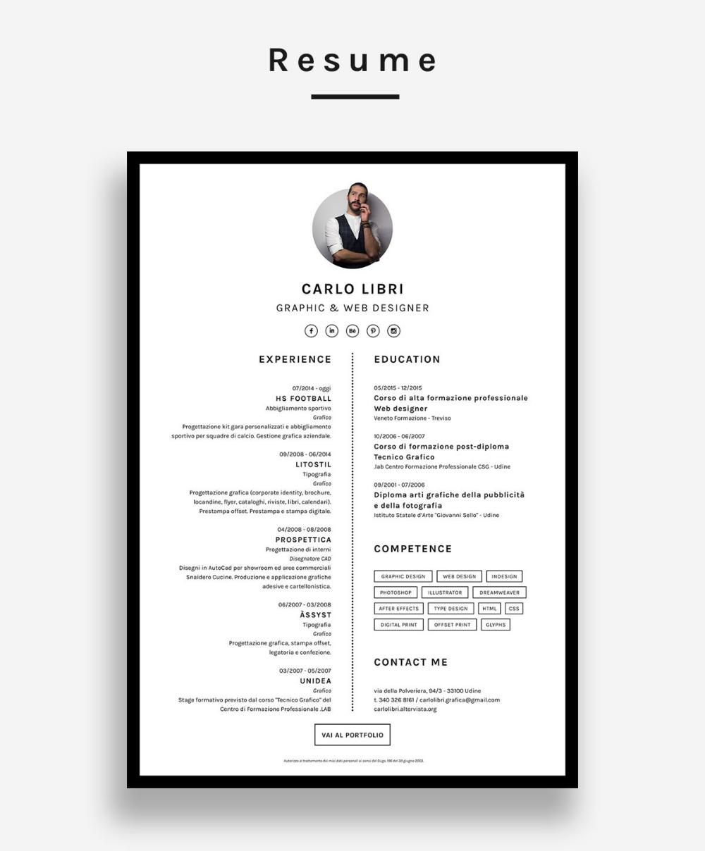 Self Promotion Resume Website On Behance