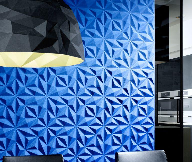 dreidimensionale textilwandbekleidung auf vliestr ger aus. Black Bedroom Furniture Sets. Home Design Ideas