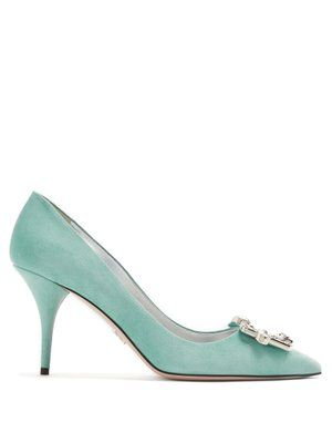 crystal buckle pumps - Blue Prada O7AfeCRuz