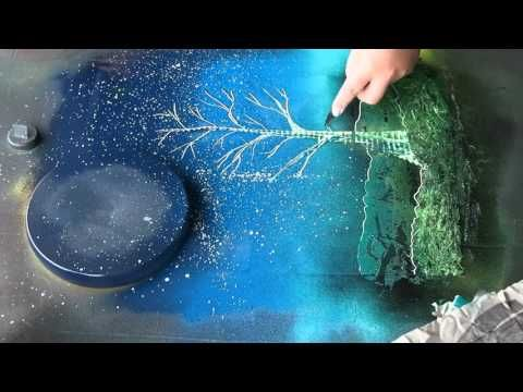 Spray paint art tutorial coral reefs by porfirio jimenez c for Spray paint art tutorial beginner